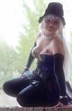 Cosplayer в костюме undertaker Стоковые Фотографии RF
