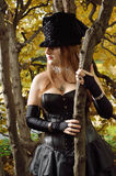 Cosplayer в парке осени Стоковые Фото