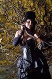 Cosplayer в парке осени Стоковая Фотография