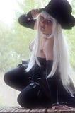 Cosplayer в платье undertaker Стоковые Фото