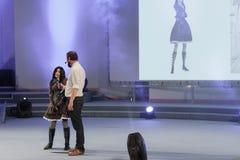 Cosplayer одело как характер Алиса Lidell Стоковое Изображение RF