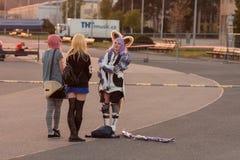 Cosplayer одело как характер Elin от игры Tera Стоковое Фото