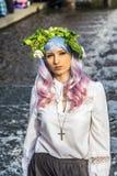 Cosplayer alla fiera del libro 2014 di Francoforte Immagine Stock Libera da Diritti