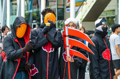 Cosplayer as characters Akatsuki from Naruto in Japan Festa in Bangkok 2013. Royalty Free Stock Photography