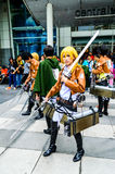 Cosplayer as characters from Attack on Titan. Royalty Free Stock Photos