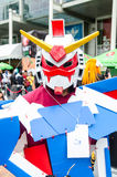 Cosplayer as characters Gundum Robot in Oishi World Cosplay Fantastic 7 Stock Photo