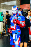 Cosplayer as characters Iron Man from Marvel Comics. Royalty Free Stock Photography
