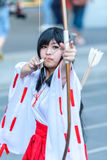 Cosplayer as characters Kikyo from InuYasha Stock Photography