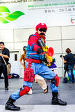 Cosplayer as characters Mario Nintendo's Game. Stock Photos