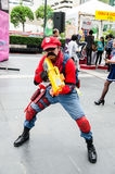 Cosplayer as characters Mario Nintendo's Game in Oishi World Cosplay Fantastic 7 Royalty Free Stock Photo