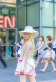 Cosplayer as characters Shinobu from Bakemonagatari Royalty Free Stock Photo