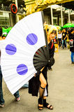 Cosplayer as characters Temari from Naruto. Royalty Free Stock Image