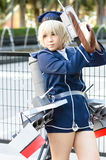Cosplayer as characters Z1 Leberecht Maass from Kantal Collection. Royalty Free Stock Image