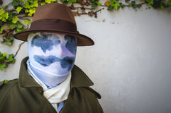 Cosplayer as Rorschach from Watchmen Stock Photography