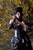 Cosplayer in the autumn park Stock Photography