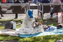 Cosplayer bij de Boekenbeurs 2014 van Frankfurt Stock Foto's