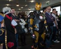 Cosplayer che posa alla convenzione di Festival del Fumetto a Milano, Italia Immagine Stock Libera da Diritti