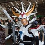 Cosplayer che posa alla convenzione di Festival del Fumetto a Milano, Italia Immagini Stock