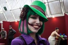 Cosplayer che posa alla convenzione di Festival del Fumetto a Milano, Italia Fotografia Stock Libera da Diritti