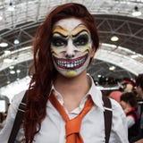 Cosplayer che posa alla convenzione di Festival del Fumetto a Milano, Italia Fotografia Stock