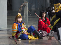 COSPLAYER  in The Comiday16 Anime Festiva Royalty Free Stock Image
