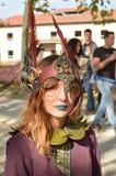 Cosplayer da fantasia na banda desenhada de Lucca e nos jogos 2014 Foto de Stock