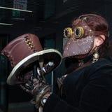 Cosplayer, das am iComix in Mailand, Italien aufwirft Stockfotografie