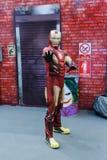 Cosplayer del hombre del hierro Fotos de archivo