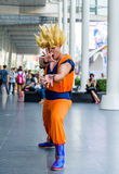 Cosplayer from Dragonball Z Royalty Free Stock Image