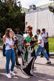 Cosplayer Draven from The League of Legends. Cosplayer Draven, the glorious executioner from The League of Legends at the EECC 2017, Bucharest, Romania at the Stock Images