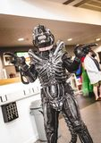 Cosplayer dressed as an `Alien` Royalty Free Stock Photo