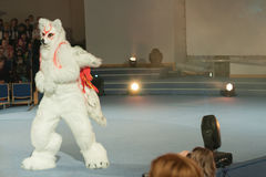 Cosplayer dressed as character Amaterasu from game Ókami Stock Photography