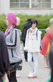 Cosplayer dressed as character from anime movie Royalty Free Stock Photos