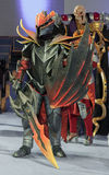 Cosplayer dressed as the character Dragon Knight Royalty Free Stock Images