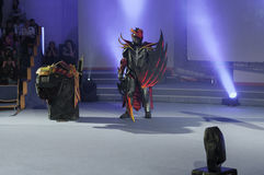 Cosplayer dressed as the character Dragon Knight Stock Photography