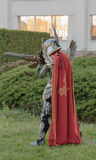 Cosplayer dressed as the character Haven  Paladin. BRNO, CZECH REPUBLIC - APRIL 30, 2016: Cosplayer dressed as Haven Paladin from game Might, Magic Heroes 7 Royalty Free Stock Photos