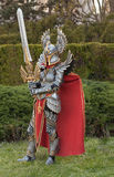 Cosplayer dressed as the character Haven  Paladin. BRNO, CZECH REPUBLIC - APRIL 30, 2016: Cosplayer dressed as character Haven Paladin from game Might, Magic Royalty Free Stock Images