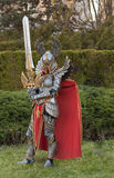 Cosplayer dressed as the character  Haven Paladin. BRNO, CZECH REPUBLIC - APRIL 30, 2016: Cosplayer dressed as character Haven Paladin from game Might, Magic Royalty Free Stock Photography