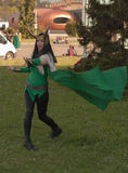 Cosplayer dressed as the character Lady Loki from The Avengers. BRNO, CZECH REPUBLIC - APRIL 30, 2016: Cosplayer dressed as the character Lady Loki from The Stock Photography