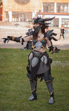 Cosplayer dressed as the character Neltharion, Deathwing. BRNO, CZECH REPUBLIC - APRIL 30, 2016: Cosplayer dressed as character Neltharion, Deathwing from game royalty free stock image