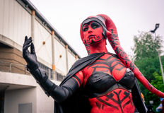Cosplayer dressed as `Darth Talon` from `Star Wars` Royalty Free Stock Image