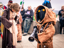 Cosplayer dressed as a `Jawa` from `Star Wars` Royalty Free Stock Photo