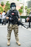 A cosplayer dressed as a soldier attends an informal cosplay meet in Japan Festa in Bangkok 2013 Royalty Free Stock Photos