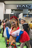 Cosplayer at Games Week 2014 in Milan, Italy Stock Photography