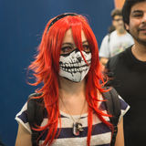 Cosplayer at Games Week 2014 in Milan, Italy Royalty Free Stock Images