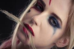 Cosplayer Harley Quinn stock foto's