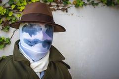Cosplayer jako Rorschach od Watchmen Fotografia Stock