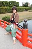 cosplayer japońscy samurajów potomstwa Zdjęcie Stock