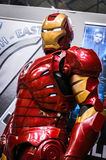 Cosplayer kleedde zich als `-Ijzermens ` van Wonderstrippagina Stock Foto's