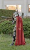 Cosplayer kleedde zich als Voorvechter van het karaktertoevluchtsoord Royalty-vrije Stock Foto's